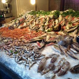 Fish market in Catania Sicily