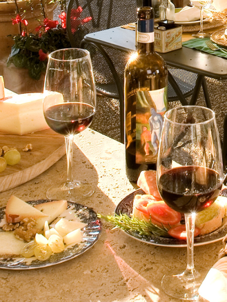 Italian Wine and cheese