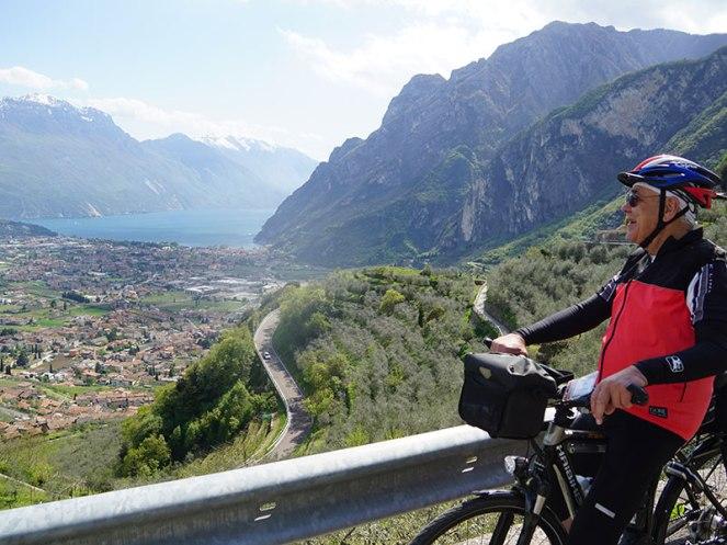 panoramic view on Lake Garda from Tenno