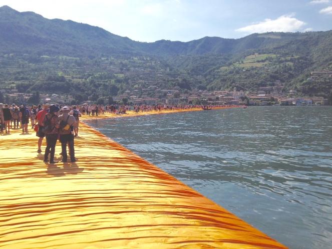 Walk path on Lake Iseo