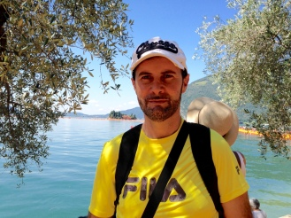 Claudio on the Floating Piers