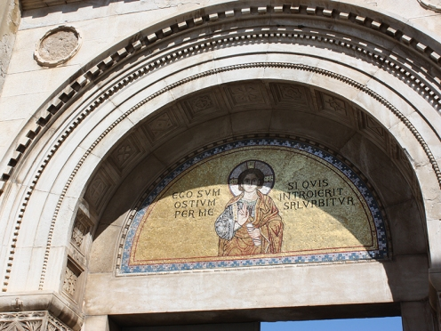 Euphrasius Basilica: Entrance to the Basilica in Porec