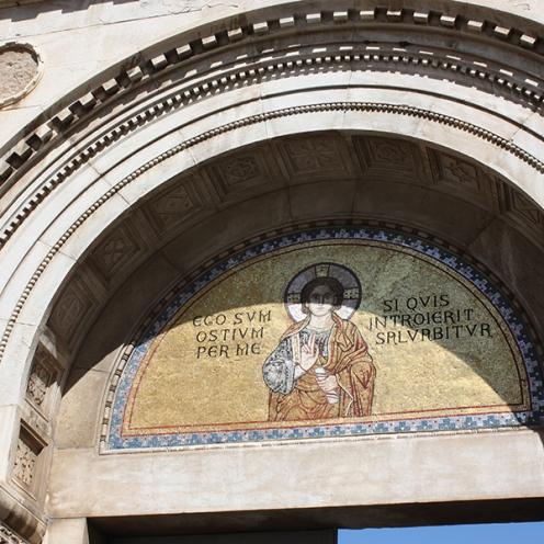 Euphrasius Basilica: Entrance to the Basilica in Porec