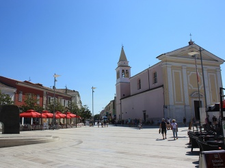 Square of liberty with church in Porec