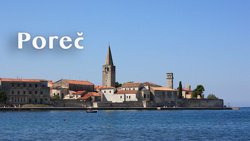 View of coastal town of Porec in Croatia