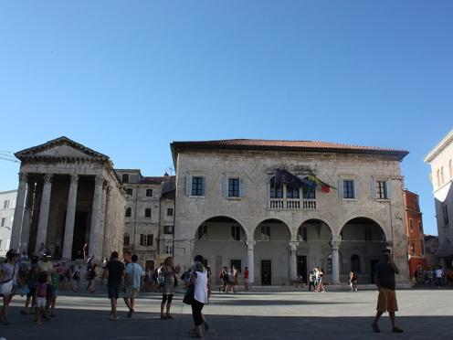 Roman Forum in Pula, Istria, Croatia