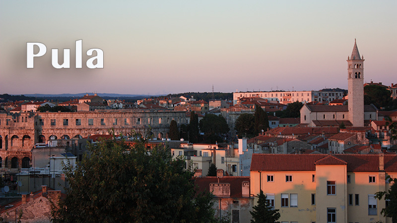 panoramic view on Pula's Arena