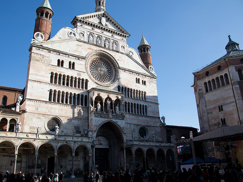 Facade of Cremona's Cathedral