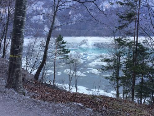 Molveno Lake in the Dolomites