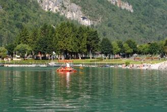 Summer activities on Lake Molveno