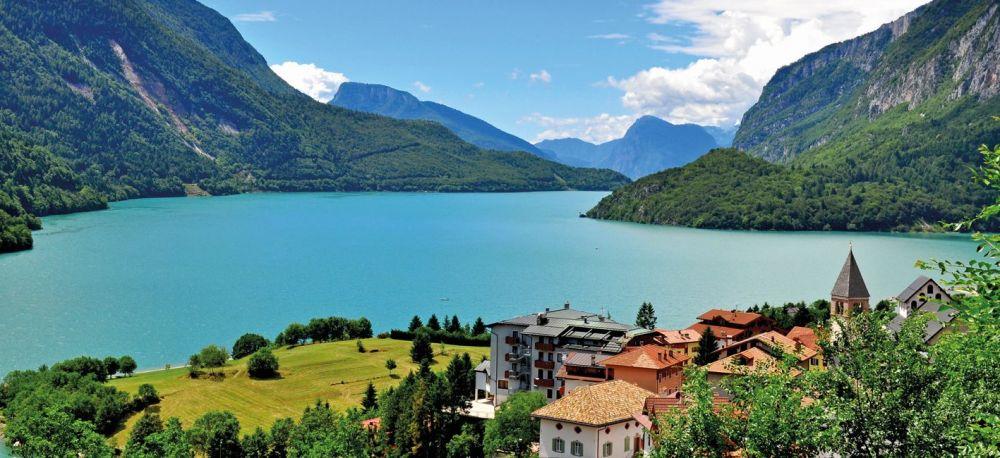 Molveno lake in Dolomites