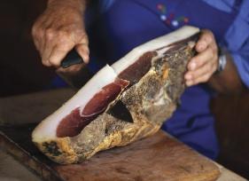 Delicious smoked ham