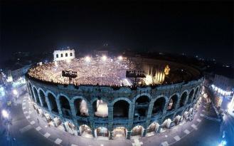 Amphitheatre Arena di Verona, Italy by night