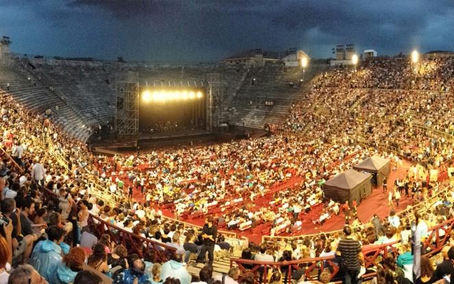 Interior view of the Arena di Verona