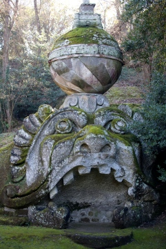 A lovely Italian garden filled with bizarre and fascinating sculptures