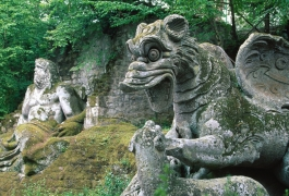 Also known as the Park of Monsters, situated 40km south of Orvieto