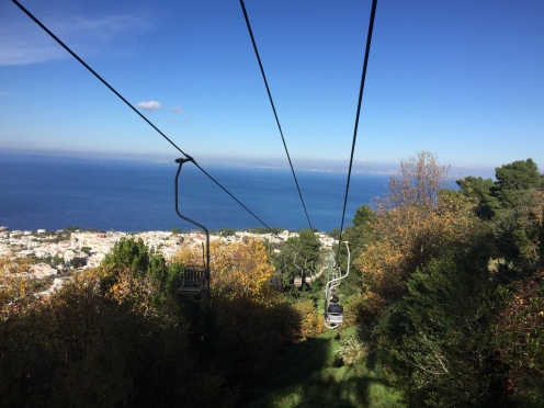 Chairlift to the top of Monte Solaro