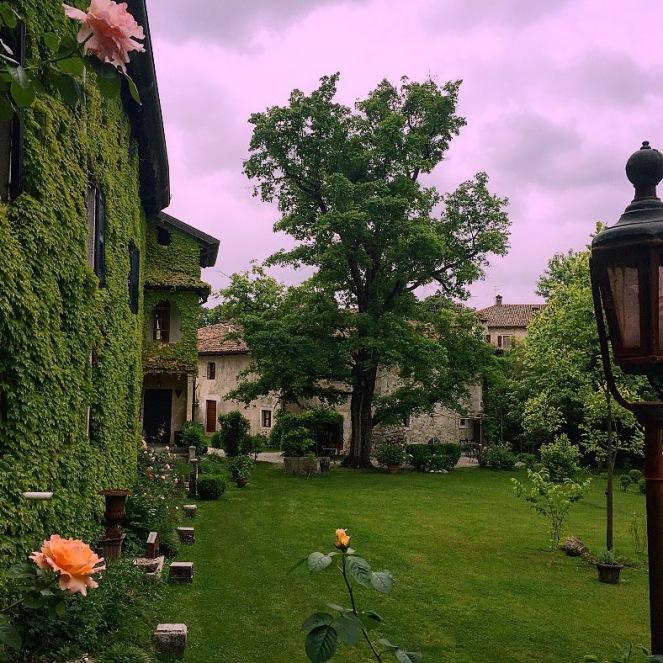 Beautiful gardens of Castello di Strassoldo