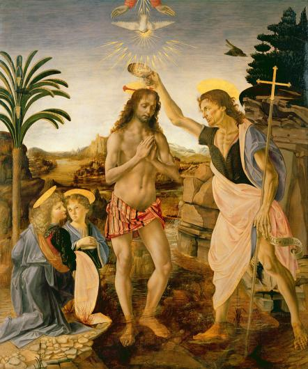 The Baptism of Christ - Leonardo da Vinci